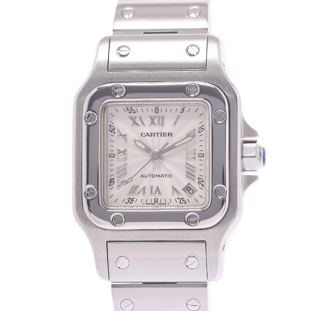 CARTIER Cartier Santos Galve SM 20th Anniversary W20044D6 Ladies Stainless Steel Watch Self-winding Silver Dial