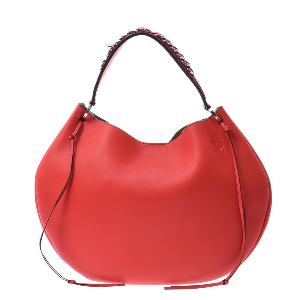 LOEWE Loewe Fortune Hobo Bag 3WAY Red Ladies Calf