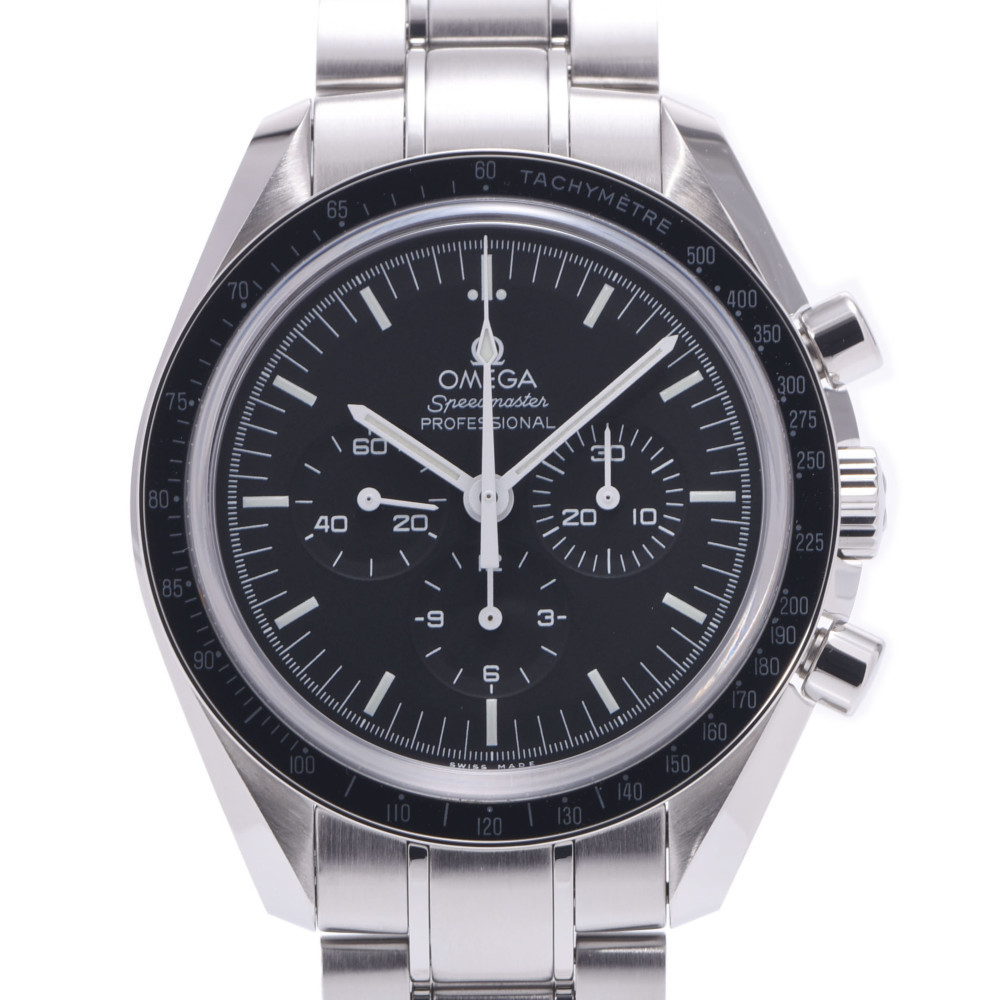 OMEGA Omega Speedmaster Professional Back Scale 311.30.42.30.01.006 Men's Stainless Steel Wrist Watch Manual Winding Black Dial