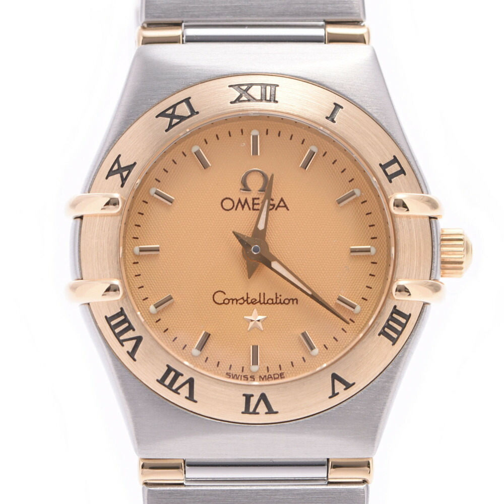 OMEGA Omega Constellation Mini 1362.10 Ladies YG Stainless Steel Wrist Watch Quartz Gold Dial