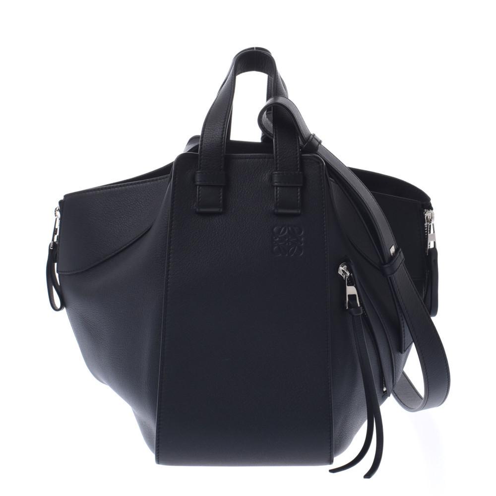LOEWE Loewe Hammock Medium Black Ladies Calf 2WAY Bag