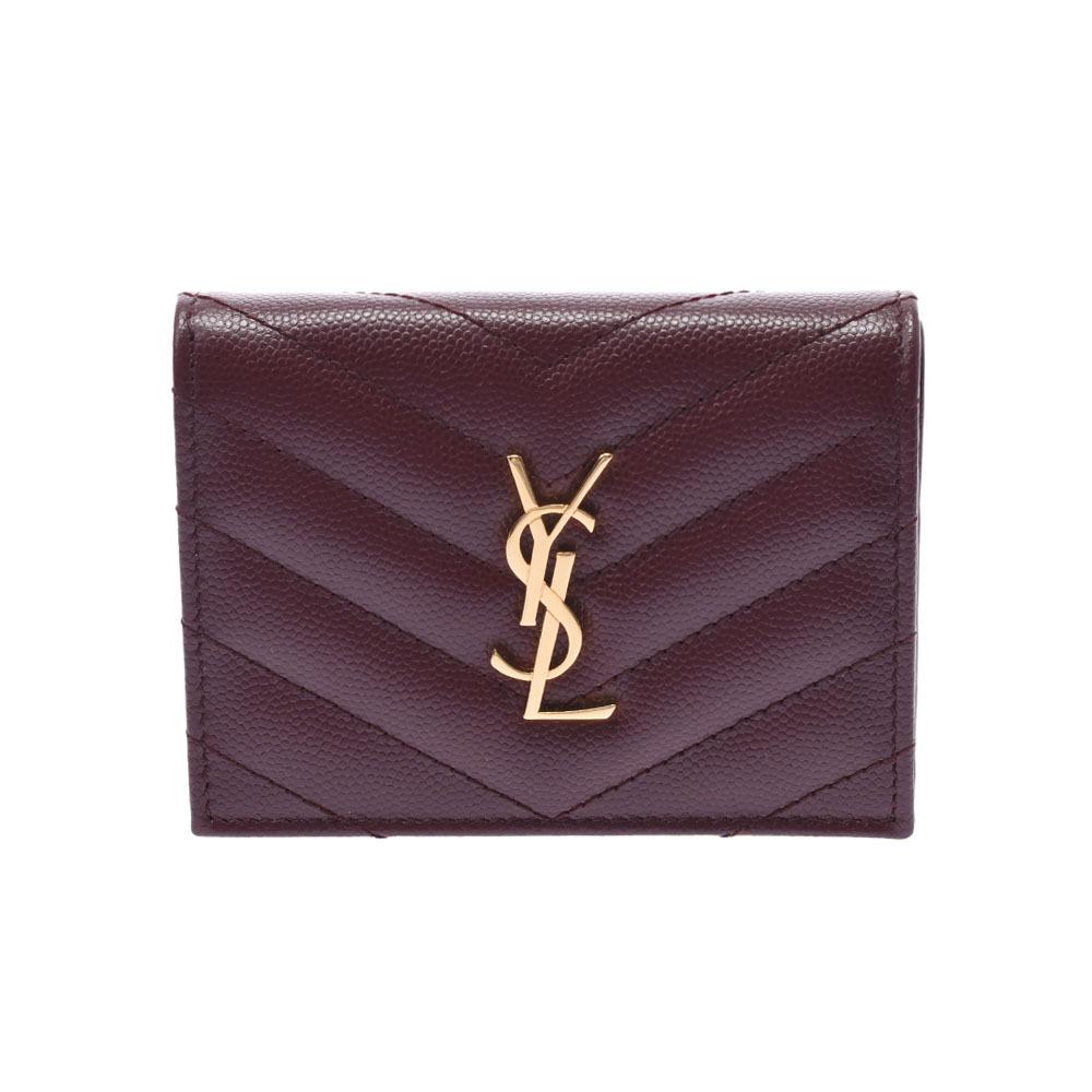 SAINT LAURENT wallet engine unisex leather bi-fold