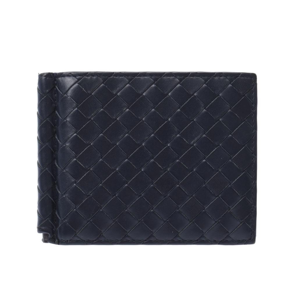 BOTTEGAVENETA Bottega Veneta Intrecciato Folded Navy Blue B03543677L Men's Leather Wallet