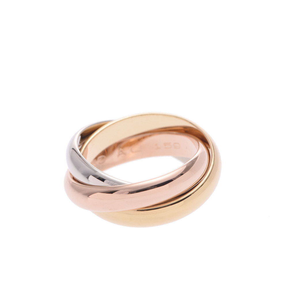 CARTIER Cartier Trinity Ring Three Color # 50 No. 10 Ladies K18YG WG PG /
