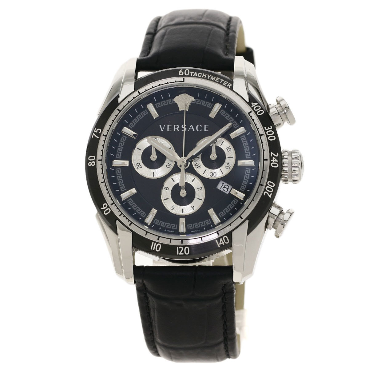 Gianni Versace VEDB00118 V-Ray Watch Stainless Steel Leather Men's
