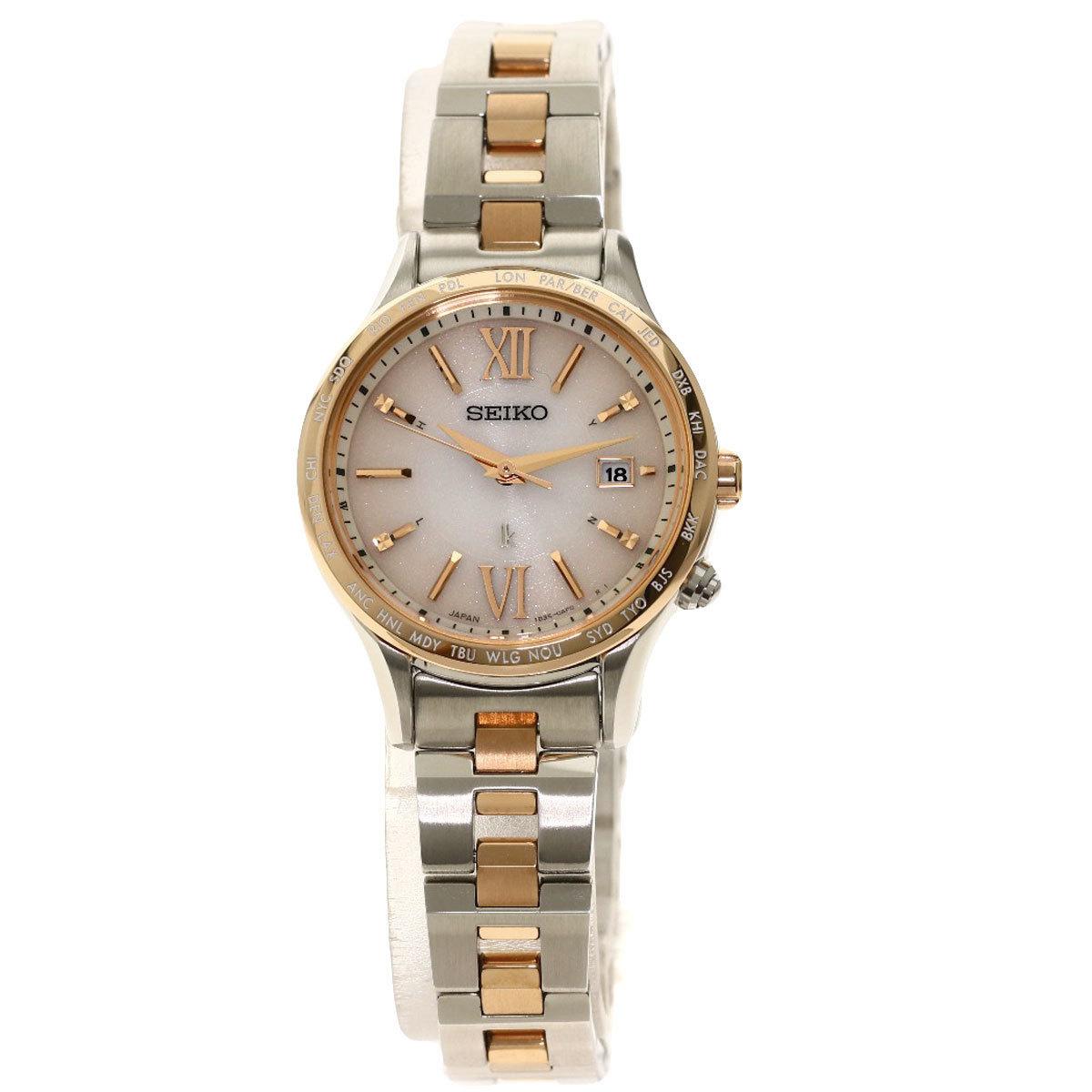Seiko VV036 Rukia 1B35-0AB0 Watch Stainless Steel GP Ladies