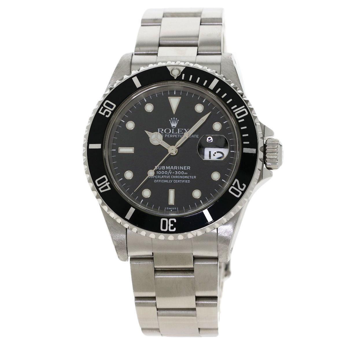 Rolex 16610 Submariner Date Watch Stainless Steel Mens