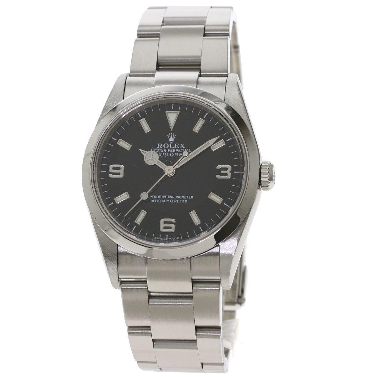 Rolex 114270 Explorer 1 Watch Stainless Steel Mens