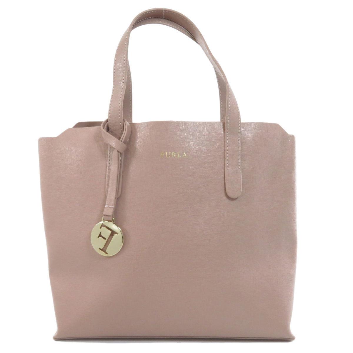 Furla logo handbag leather ladies
