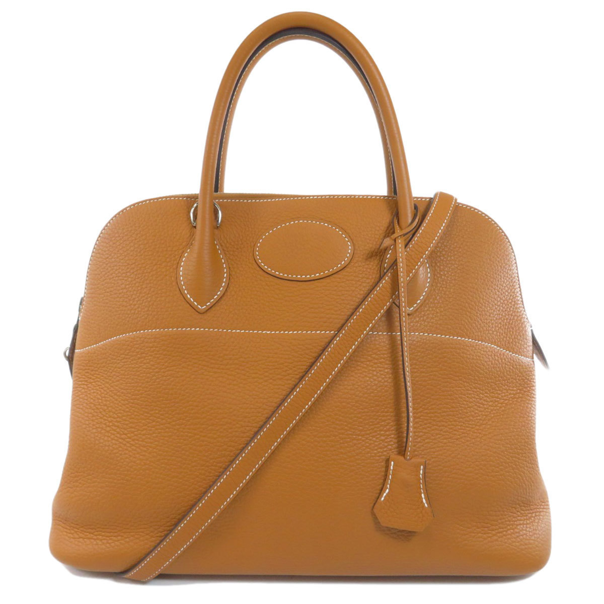 Hermes Bored 35 Taurillon Toffee Handbag Clemence Ladies