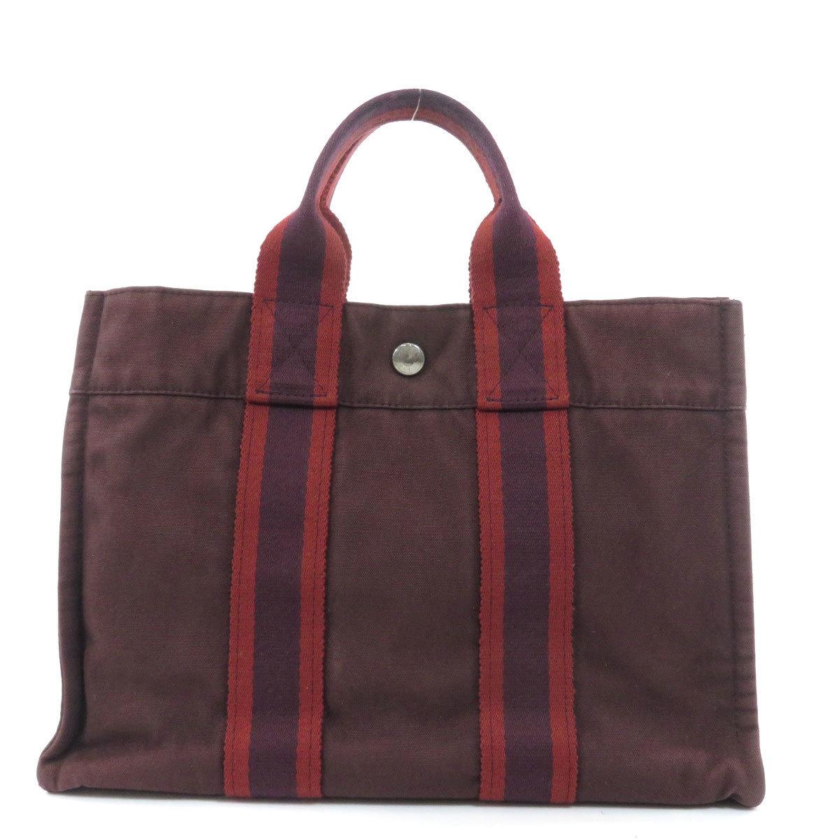 Hermes Sack Fool Toe PM Tote Bag Canvas Ladies
