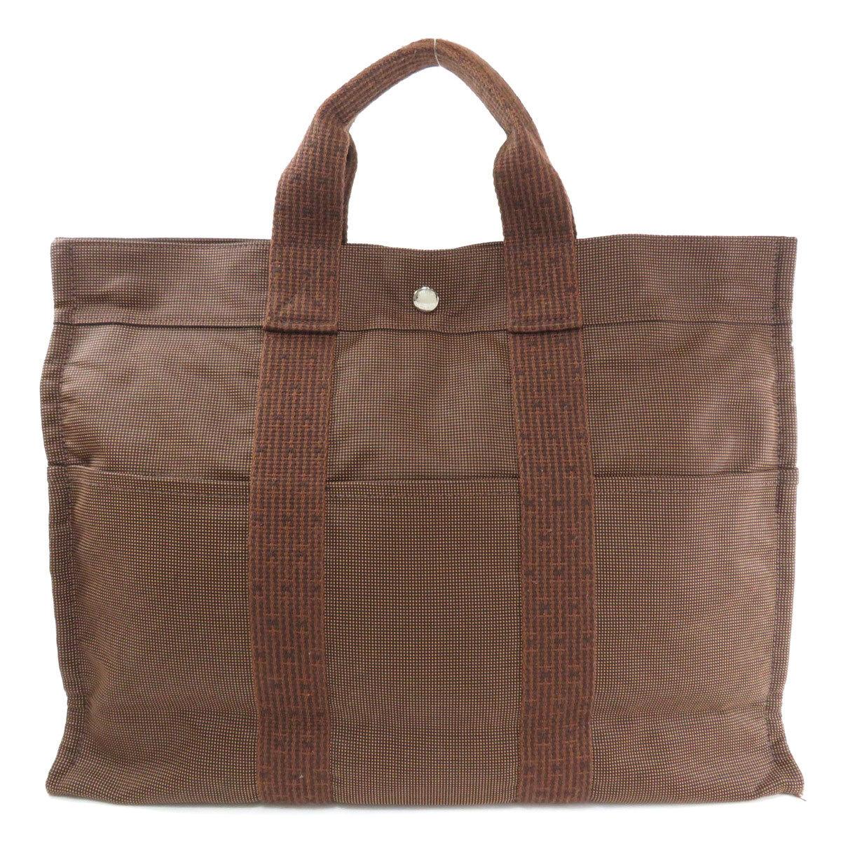 Hermes Aleline Tote MM Bag Canvas Ladies