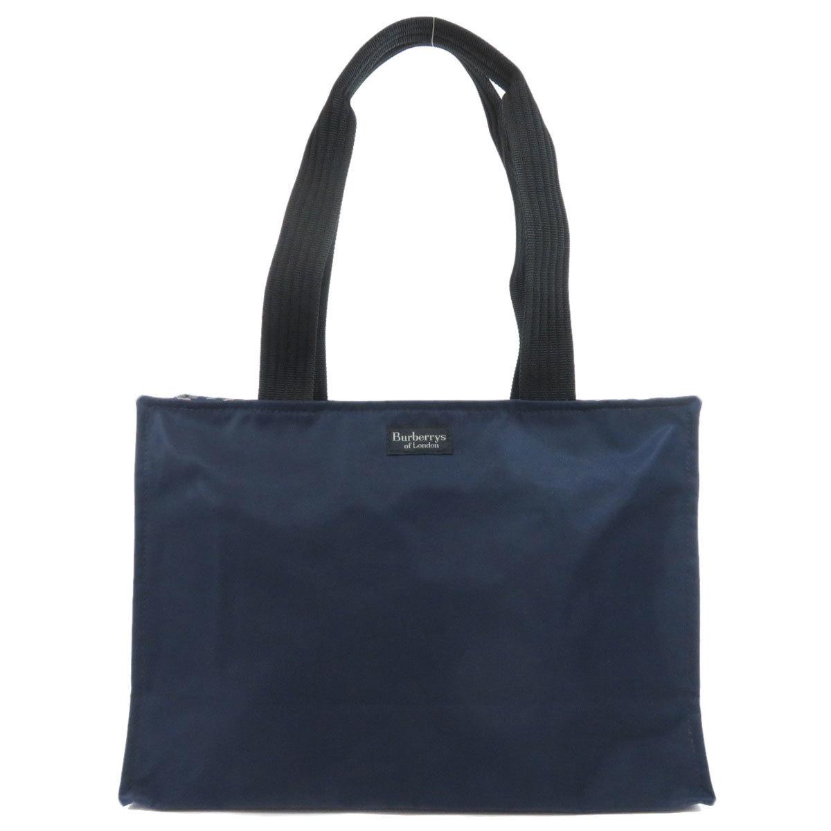 Burberry Logo Motif Tote Bag Nylon Ladies