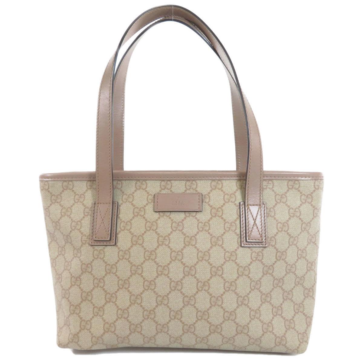 Gucci 211138 GG Supreme Tote Bag PVC Leather Ladies