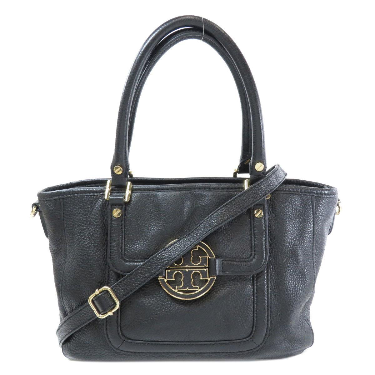 Tory Burch logo motif handbag leather ladies