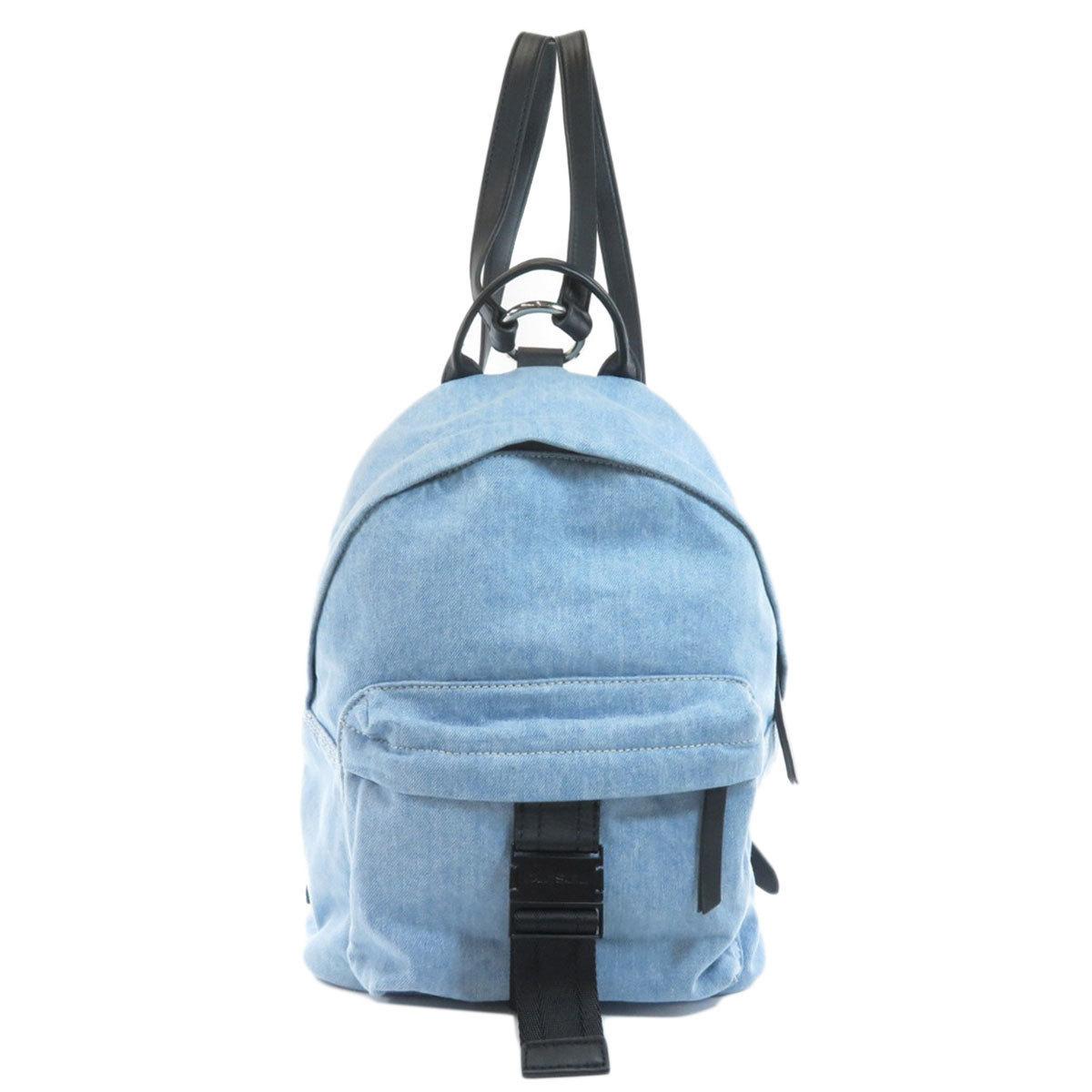 Diesel logo motif rucksack daypack denim ladies