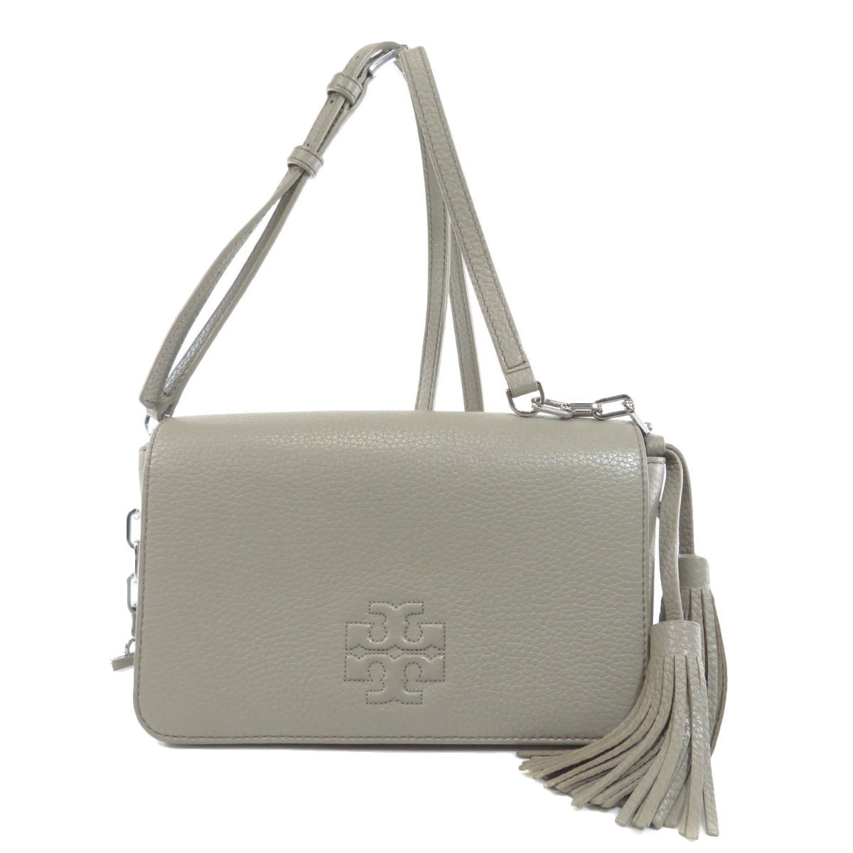 Tory Burch Tassel Motif Shoulder Bag Leather Ladies
