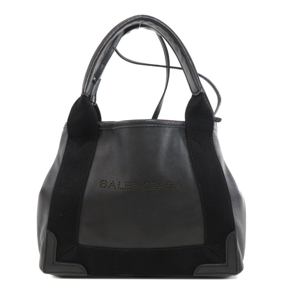 Balenciaga 390346 Navy Cover S Tote Bag Leather Ladies
