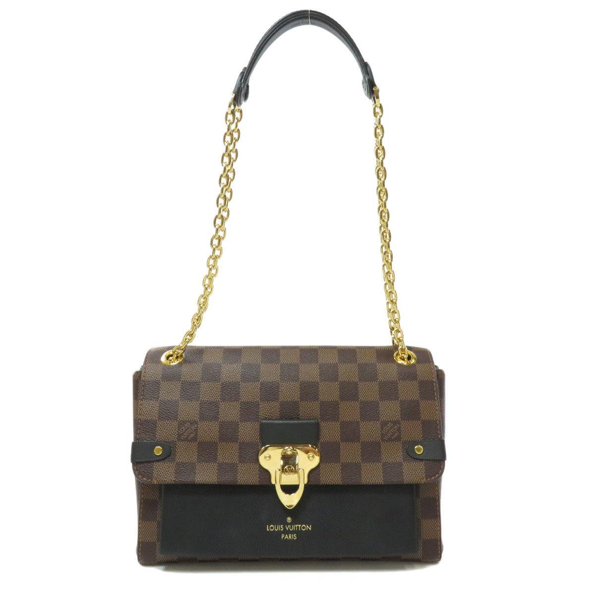 Louis Vuitton N40108 Vavan PM Damier Ebene Shoulder Bag Canvas Ladies