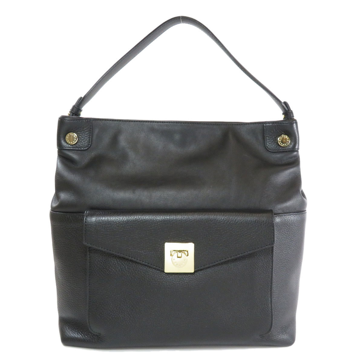 Furla logo metal fittings shoulder bag leather ladies