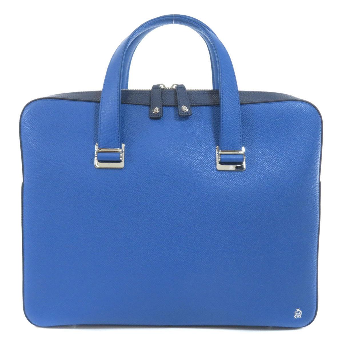 Dunhill Logo Motif Handbag Leather Ladies