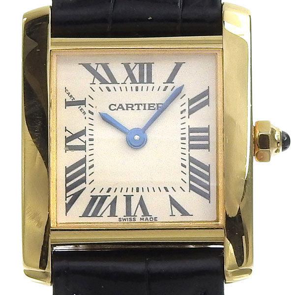 CARTIER Cartier K18YG Tank Francaise Ladies Quartz Watch W5000256