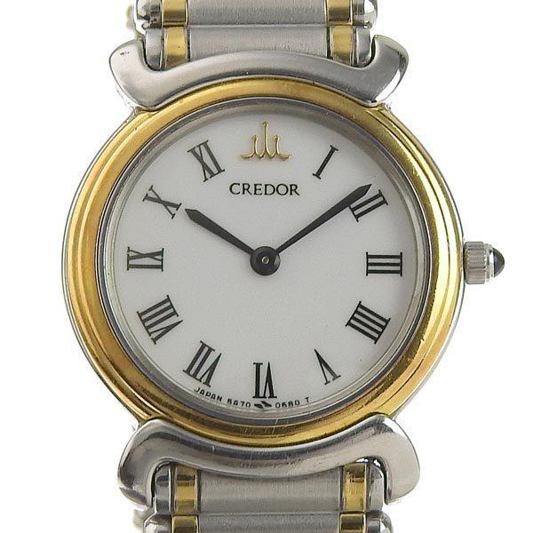 SEIKO Seiko Credor Ladies Quartz Wrist Watch White Dial 5A70-0280