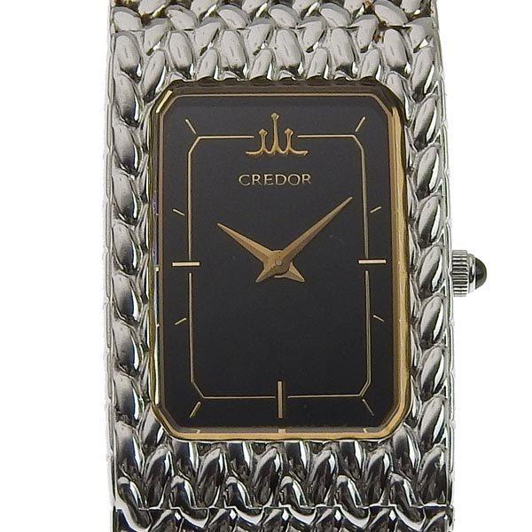 SEIKO Seiko Credor Ladies Quartz Wrist Watch Black Dial 2F70-5340