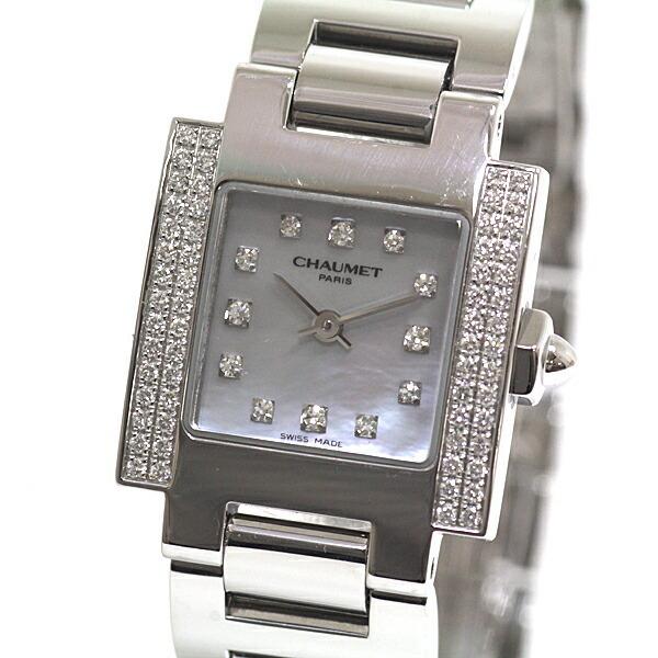 CHAUMET Chaumet Ladies Watch Still de 12P Diamond Bezel Shell Dial Quartz