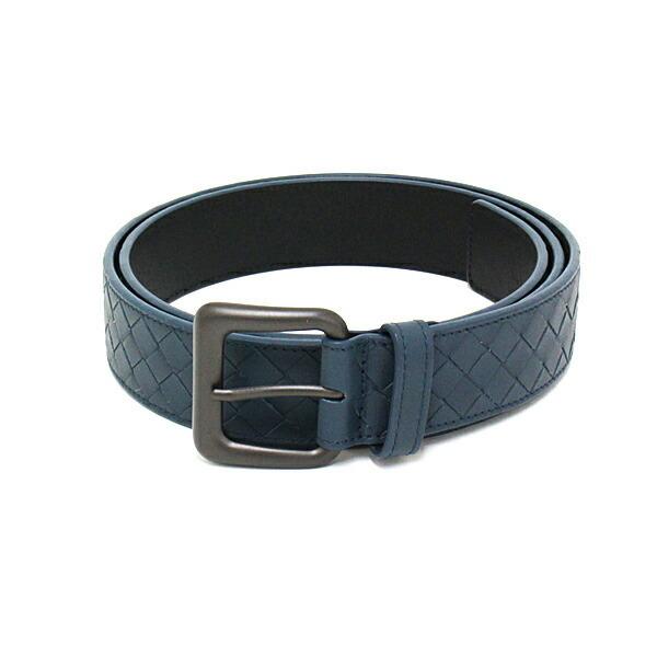 BOTTEGA VENETA belt 271932 100/40 blue intrecciato made in Italy