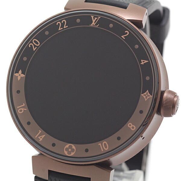 Louis Vuitton Smart Watch Connected Tambour Horizon QA052Z Brown PVD