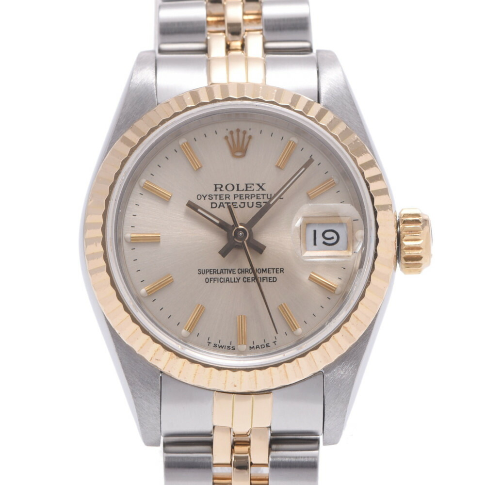 ROLEX Rolex Datejust 69173 Ladies YG Stainless Steel Wrist Watch Automatic Champagne Dial