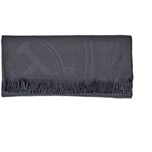 Hermes HERMES Large Format Stole New Ribris Black Cashmere x Silk H262494
