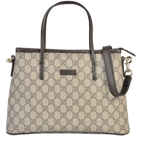 Gucci GUCCI 2WAY tote bag GG Supreme beige with strap gold metal fittings 353440