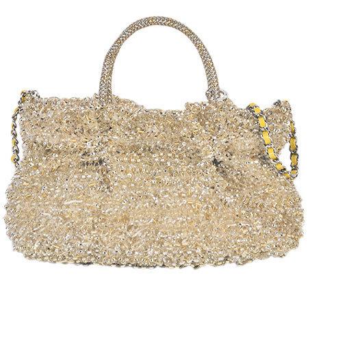 ANTEPRIMA 3WAY Handbag Wire Glitter Silver Gold With Strap PB12F260E3 Bag