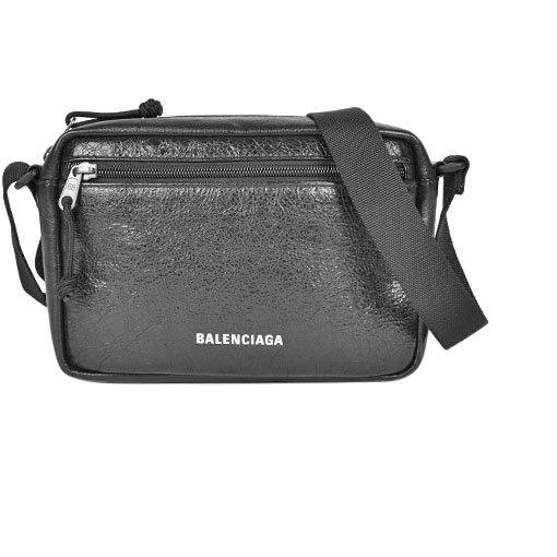 Balenciaga BALENCIAGA Shoulder Bag Explorer Black Lambskin 646138 1WG9X