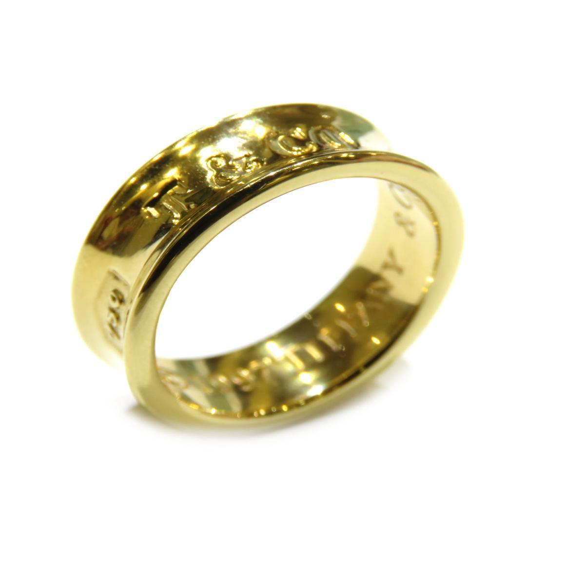 TIFFANY & CO 1837 Narrow Ring Ladies K18YG (750) No. 6.5