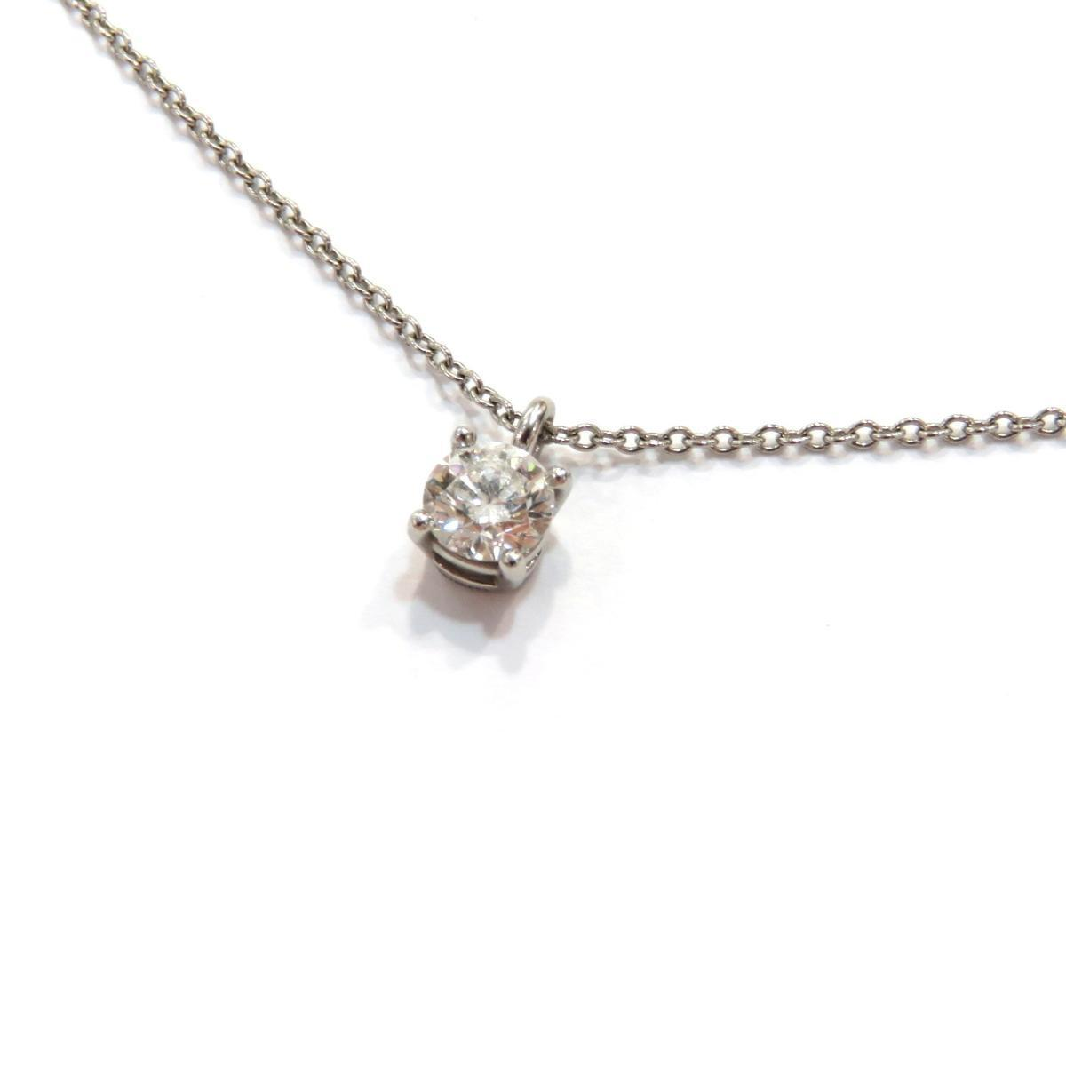 TIFFANY & CO Solitaire Necklace Ladies PT950 Diamond