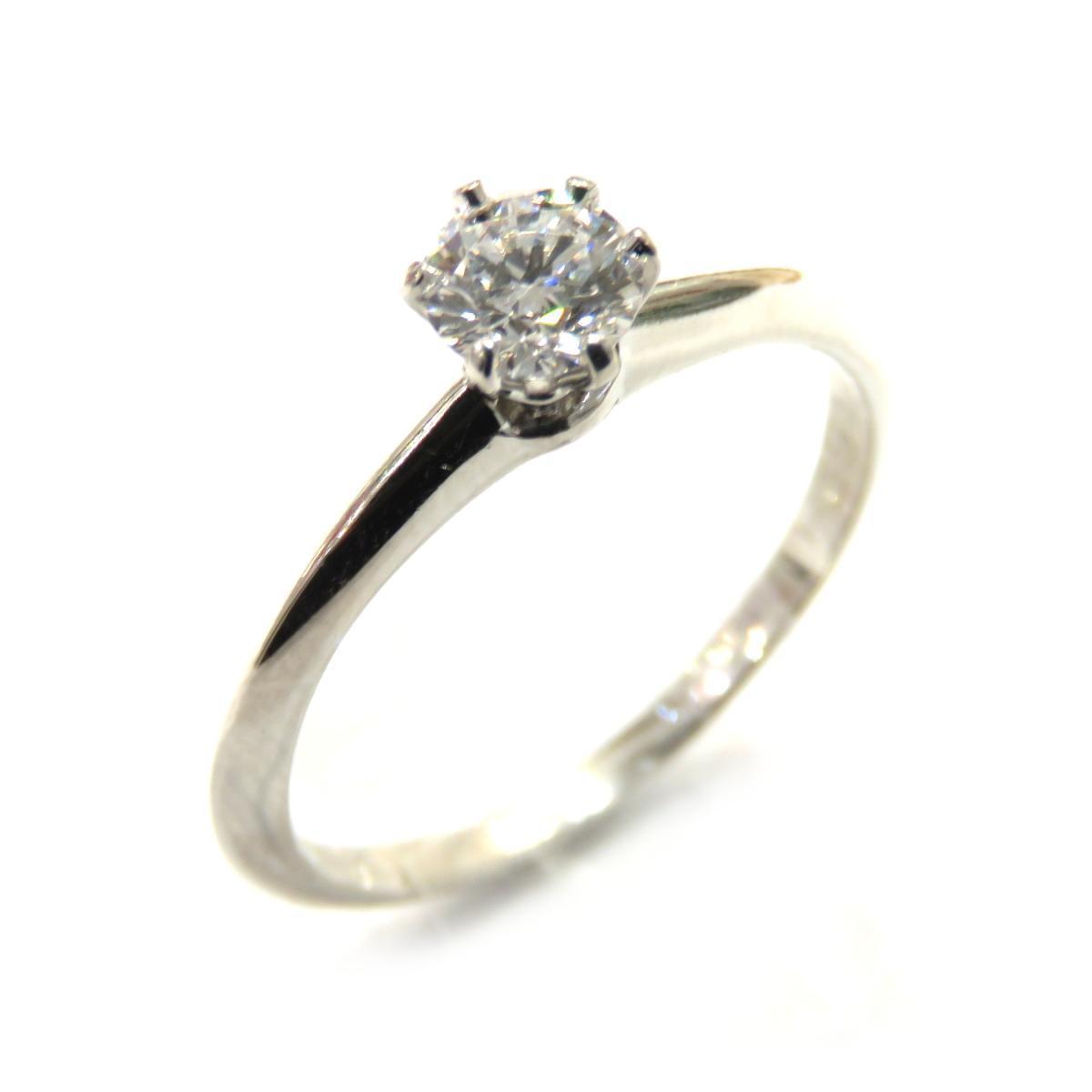 TIFFANY & CO Solitaire Ring Ladies PT950 Diamond (D0.29ct) No. 11