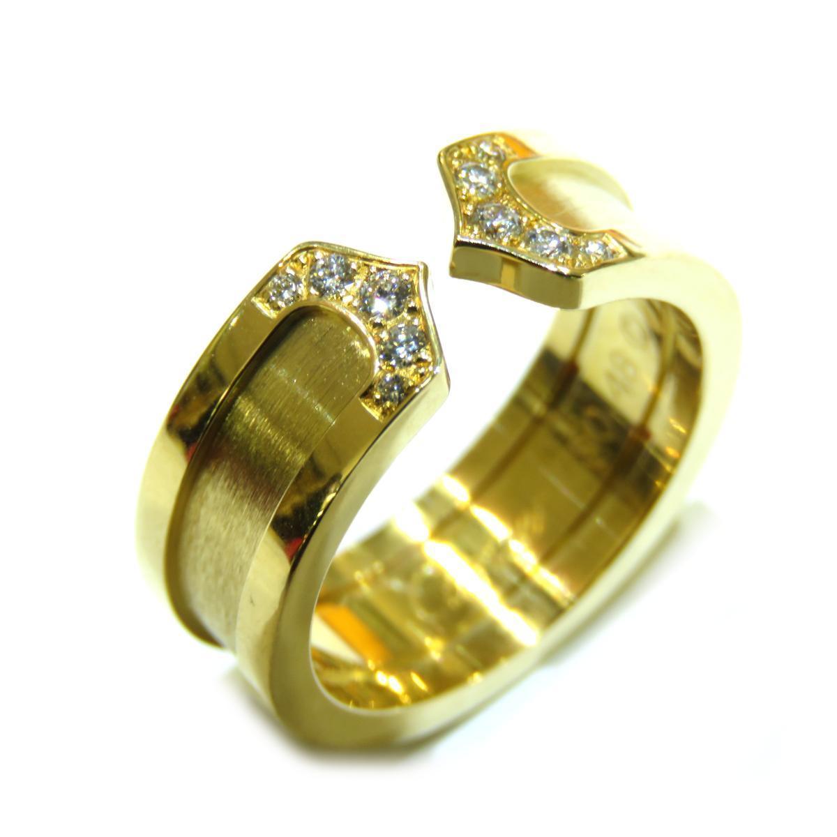 Cartier C2 diamond ring ladies K18YG (750) # 48 No. 8