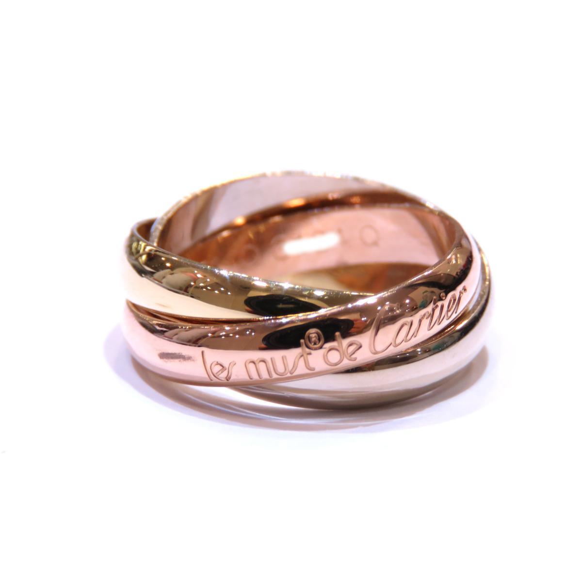 Cartier Trinity Ring Ladies K18YG (750) # 54 13.5