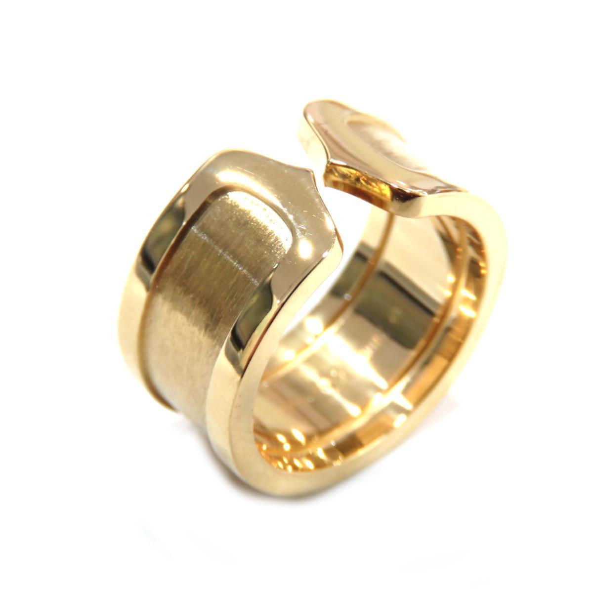 Cartier C2 ring LM Ladies K18YG (750) # 50 No. 10