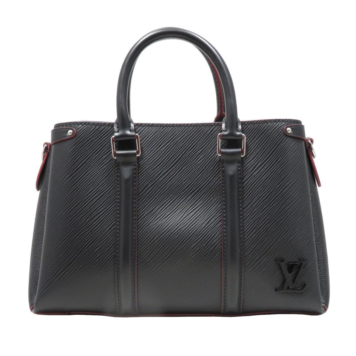 LOUIS VUITTON Sufro NV BB Handbag Ladies Black Noir Epi Leather (M55613)