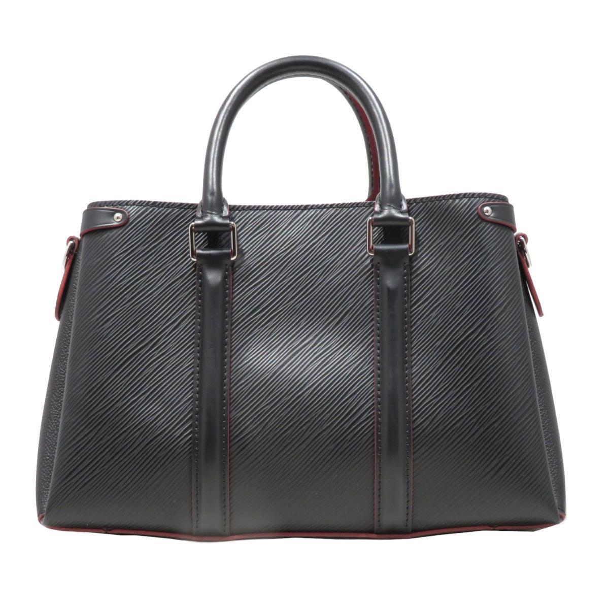 LOUIS VUITTON Soufflet NV BB Handbag Ladies Black Noir Epi Leather (M55613)
