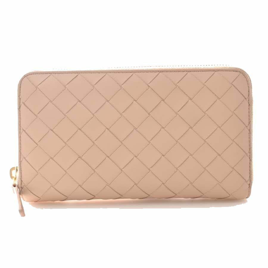 Bottega Veneta Maxi Intrecciato Round Purse Pink Leather