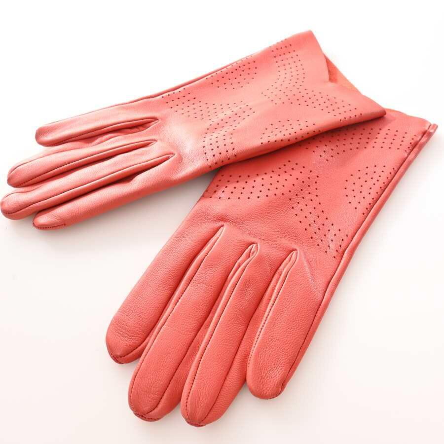 Hermes HERMES Lambskin Punching Gloves Red