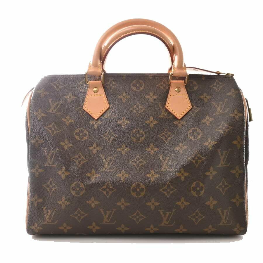 Louis Vuitton LOUIS VUITTON Monogram Speedy 30 Handbag Leather Brown PVC