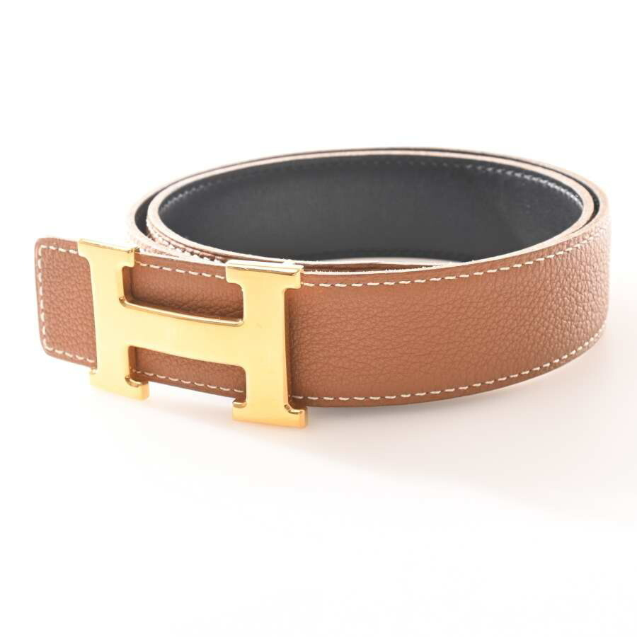 Hermes HERMES Box Calf Togo Constance H Belt Black Brown