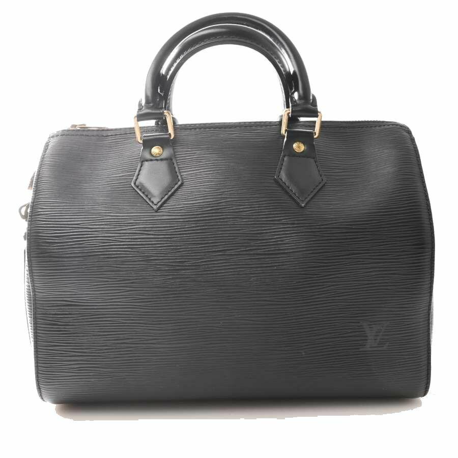 Louis Vuitton LOUIS VUITTON Epi Speedy 25 Tote Bag Black Leather