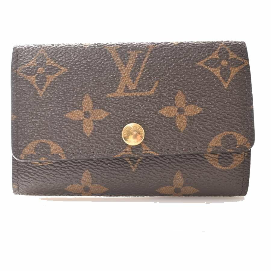 Louis Vuitton LOUIS VUITTON Monogram Multikre 6 Key Case Brown PVC Leather